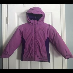 Colombia girls purple puffer jacket w/ hood 6 - 6X